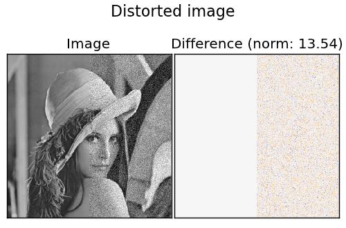 Noisy image for denoising